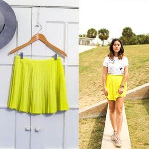 American Apparel Crepe Sunburst Pleated Skirt